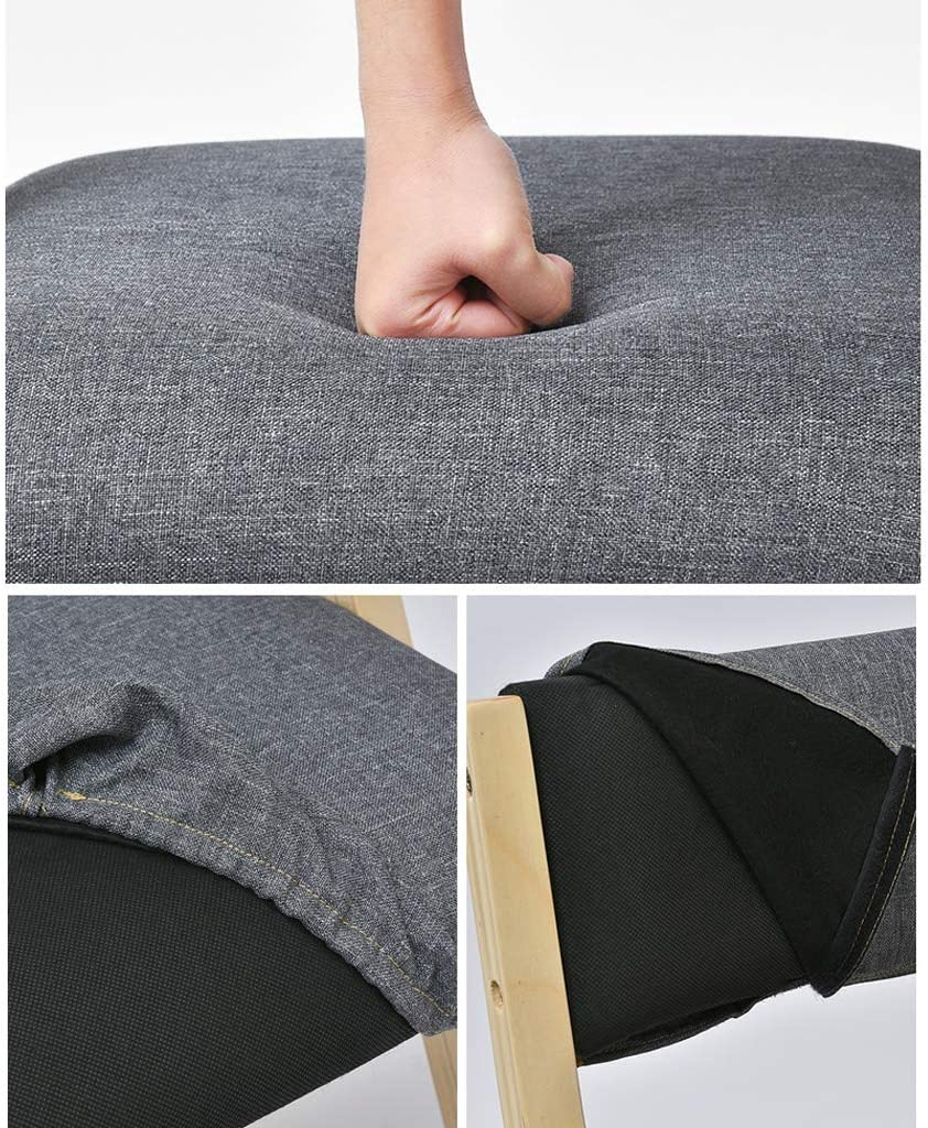 XXT Chaise de salle, Chaise de bureau simple, créative Dossier, Chaise Loisirs, Maison adulte Chaise de salle Durable (Color : Dark gray) Dark Gray