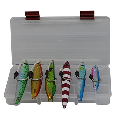 ALMOST ALIVE LURES ASSORTED VERTICAL JIGS JIGGING FISHING LURES 150 GRAM 5 PCS