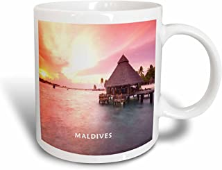 3dRose The Maldives in The Indian Ocean at Sunset Ceramic Mug, 15-Ounce