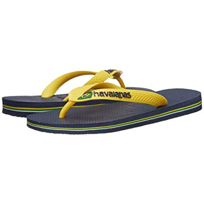 Havaianas Brazil Logo Flip Flops (Citrus Yellow 1) Women