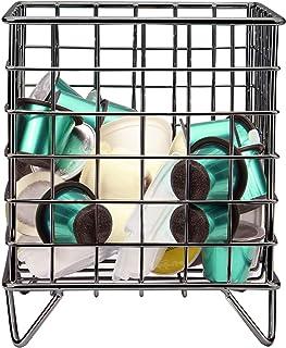 Porte-cage à dosettes de café | Compatible Nespresso et Tassimo | Panier en fil métallique | Stockage des capsules | Décor...