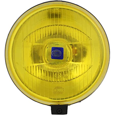 Cover Without Bulb Details about  /Hella Round Fog Lamp Yellow Glass