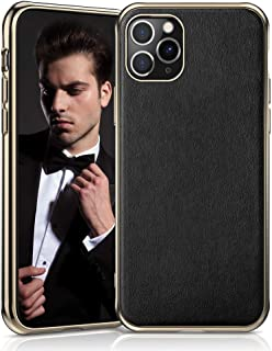 LOHASIC iPhone 11 Pro Case, Slim Fit Business Style Premium PU Leather Elegant High-end Cover Anti-Slip Soft Grip Flexible Full Body Protective Phone Cases for Apple iPhone 11 Pro(2019) 5.8