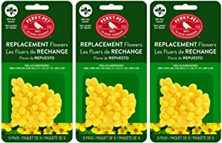 Perky-Pet 202FB 9 Piece Yellow Hummingbird Feeder Replacement Flowers (Pack of 3)