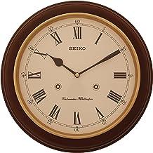 SEIKO Wood Wall Clock (31.4 x 31.4 x 6.1 cm, Brown)