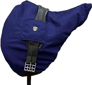 Blue HDR English Saddle Cover