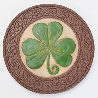 Bits and Pieces - St. Patrick's Day Shamrock Stone - Luck of The Irish - Celtic Knotted Border