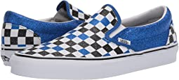 (Glitter Checkerboard) Princess Blue/True White