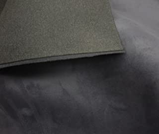 "luvfabrics Charcoal Suede Headlining Foam Backed Fabric 60"" Wide by The Yard"
