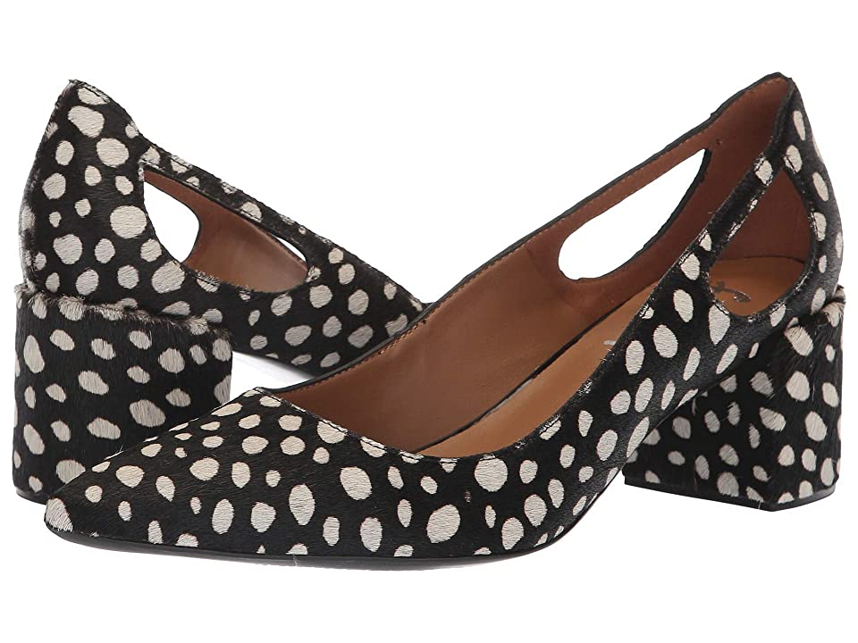 French Sole Courtney2 Heel (Black/White Haircalf 1) Women