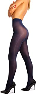 Opaque Microfibre Tights for Women - Invisibly Reinforced Opaque Brief Pantyhose 40Den [Made In Italy]