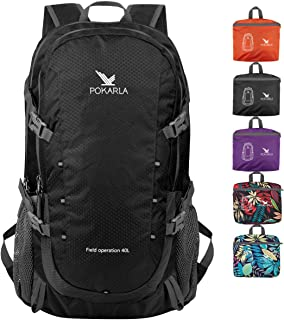 POKARLA 40L Lightweight Packable Backpack Hiking Daypack Walking Rucksack Foldable Camping Sports Outdoor Knapsack for Wom...