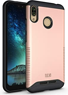 BLU VIVO XL4 Case, TUDIA Slim-Fit Heavy Duty [Merge] Extreme Protection/Rugged but Slim Dual Layer Case for BLU VIVO XL4 [NOT Compatible with VIVO XL or XI+] (Rose Gold)