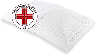 Almohada de espuma viscoelástica de baja altura de 10 cm, ideal para niños y adultos. Dispositivo médico, almohada baja ortopédica para el dolor de cuello y cervicales.