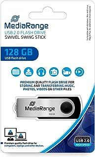 MediaRange Clé USB 2.0 128 Go Noir/argenté