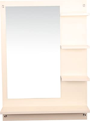 Anikaa Mavis Dressing Wall Mirror' with Shelves (White)