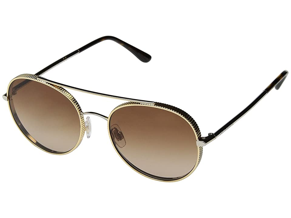 Dolce & Gabbana 0DG2199 (Gold/Silver/Brown Gradient) Fashion Sunglasses