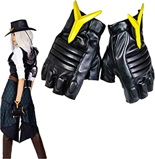 Women's OW Ashe Cosplay Costumes Trousers Halloween Game PU Leather Brown Pants Party Accessories Game Anime Props
