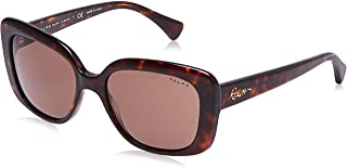 Ralph Women's 0RA5241 Sunglasses, Brown (Shiny Dark Havana), 55 (0RA5241 500373 - 55)