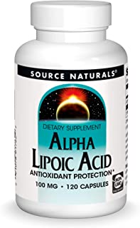 Source Naturals Alpha Lipoic Acid 100 mg Supports Healthy Sugar Metabolism, Liver Function & Energy Generation - 120 Capsules