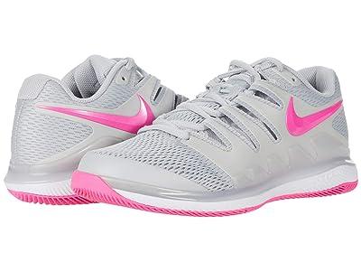 Nike Air Zoom Vapor X (Grey Fog/Pink Blast/White) Women