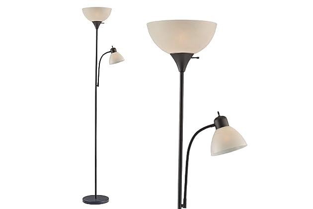 Light Accents Susan Floor Lamp 72 Tall 150 Watt With Side Reading Black