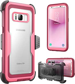 i-Blason Armorbox Series Case for Galaxy S8+ Plus, [Full body] [Heavy Duty] Shock Reduction / Bumper Case WITHOUT Screen Protector for Samsung Galaxy S8 Plus 2017 Release (Pink)