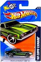 Hot Wheels 2012-102 Muscle Mania 2/10 '68 Copo Camaro GREEN 1:64 Scale