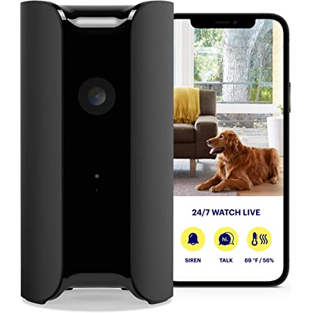 CANARY (CAN100USBK) All-in-One Indoor 1080p HD Security Camera with Built-in Siren and Climate Monitor, Motion / Person / Air Quality Alerts, Works with Alexa, Insurance Discount Eligible - Black, single