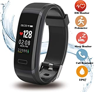 Fitness Tracker, Activity Tracker with Heart Rate Monitors Colorful Display Sleep Monitor Sport Caloriesfor iOS Android Phones Adult Kids