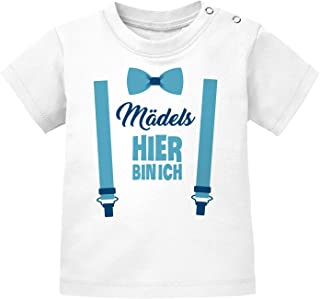 MoonWorks Baby T-Shirt Kurzarm Babyshirt Mädels Hier Bin ich lustig Spruch Jungen