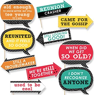Funny Class Reunion - Photo Booth Props Kit - 10 Piece