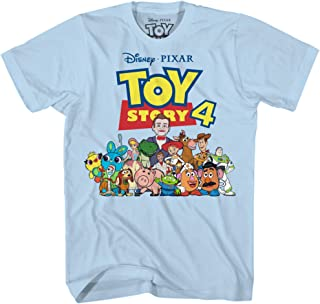 Disney Pixar Toy Story 4 Team Toy Poster Woody Buzz Bo Peep Movie Disneyland World Tee Funny Humor Men's Graphic T-Shirt