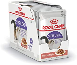 ROYAL CANIN Sterilised Comida para Gatos - Paquete de 12 x 85 gr - Total: 1020 gr
