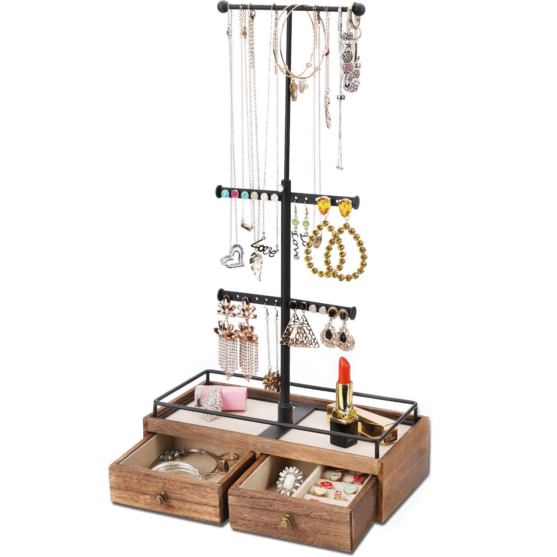 Keebofly Jewelry Organizer Metal Storage
