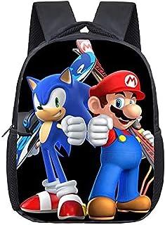 Sonic The Hedgehog Knuckles The Echidna Banner Backpack Daypack Rucksack Laptop Shoulder Bag with USB Charging Port