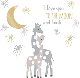 Lambs & Ivy Signature Moonbeams Wall Decals/Appliques - Gray, Gold, Animals