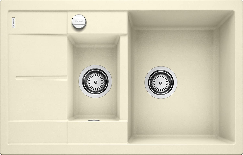 Weiß Küchespüle Metra (60 cm Unterschrank - verkürzte Abtropfflche), jasmin, 513469