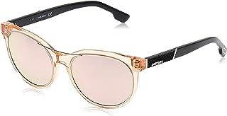 نظارة شمسية بتصميم مربع للنساء من ديزل بلون بني DL0213 55 19 140 ملم