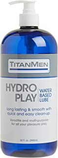 Doc Johnson Titanmen Hydro Play Water Based Glide, 32 Fluid Ounce