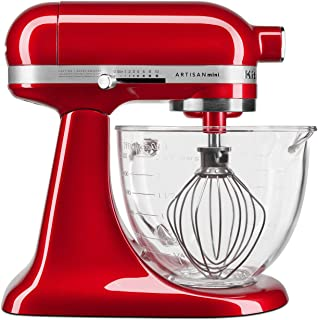 KitchenAid KSM3306XCA Artisan Mini Design Series 3.5 Quart Tilt-Head Stand Mixer, Candy Apple Red