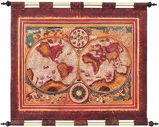 Tapiz de cuero Mapa Esferas