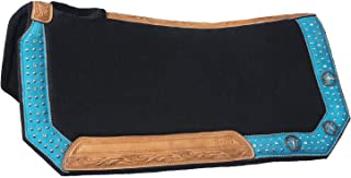 Tough 1 Gypsy Spirit Collection Saddle Pad, Turquoise Suede Overlay