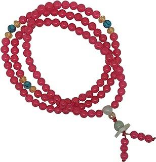 The Bo Tree Glass & Lotus 108 Stretch Japa Mala Buddha Bead Bracelet Yoga Meditation Buddhist Mantra Hindu