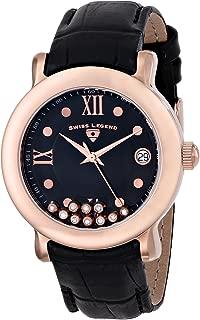 Swiss Legend Women's 22388-RG-01 Diamanti Analog Display Swiss Quartz Black Watch