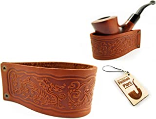 New Genuine Leather Pipe Stand Rack Holder Rest for Tobacco Smoking Pipe, Fits Most Pipes, Handmade (BIG)