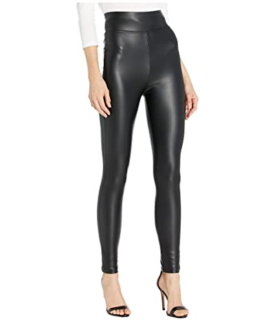 Plush Fleece-Lined High-Waisted Liquid Leggings (Black) Women