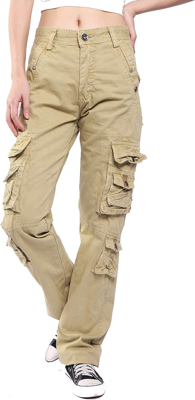MZCWAY Women's Multi Pockets Casual Cargo Pants
