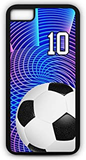 iPhone 6s Phone Case Soccer SC049Z by TYD Designs in Black Rubber Choose Your Own Or Player Jersey Number 10