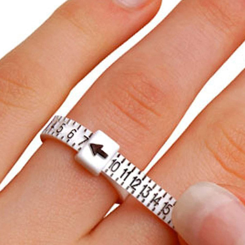 misura per dita misura per dita UK//US Misuratore di anelli donne Ruby569y misura per uomini
